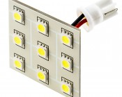 T3.25 LED Bulb - 9 SMD LED PCB Lamp - Miniature Wedge Retrofit