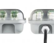 T8 LED Vapor Proof Light Fixture for 2 LED T8 Tubes - Industrial LED Light - 4' Long: View Of Both Ends