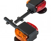 LED Trailer Fender Light Set - Dual Face LED Marker Clearance Light Assembly with Red and Amber LEDs