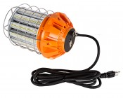 125 Watt Temporary LED Job Site Light w/ Power Cord and Safety Hook - 4000K - 13,700 Lumens Back View