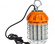 125 Watt Temporary LED Job Site Light w/ Power Cord and Safety Hook - 4000K - 13,700 Lumens