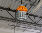 Conduit Mount for Temporary Job Site Light: Installed On 80W Temporary Work Light