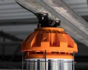 Magnetic Bracket for Temporary Job Site Light: Installed On Frame