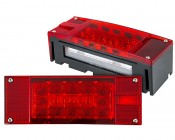 "LED Trailer Light Kit - 8"" Rectangle LED Trailer Stop Turn Tail Light Kit with 18 High Output LEDs"