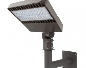 Wall-Mount Bracket for LED Area Lights and LED Parking Lot Lights: Attached to APL-NW150 Area Light