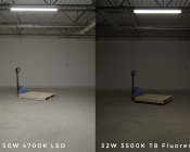 50W LED Vapor Proof Light Fixture - LED Tri-Proof Light - 4' Long - 5,500 Lumens