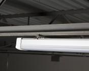 60W LED Vapor Proof Light Fixture - LED Tri-Proof Light - 4' Long - 7,500 Lumens: Close Up View Installed