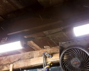 40W Linkable Linear LED Light Fixture - Industrial LED Light - 4' Long: Showing Two Fixtures Installed Linked Together