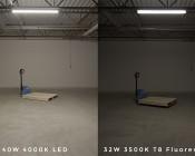 40W Linkable Linear LED Strip Light Fixture - Industrial LED Light - 4' Long - 4,000 Lumens