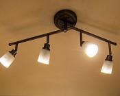 MR11 LED Bulb - 15 Watt Equivalent - Bi-Pin LED Flood Light Bulb: Shown Installed In Track Lighting Fixture