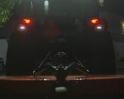 9 Watt Vehicle Mini Strobe Light Head: Shown Installed Under Tractor Brake Lights.