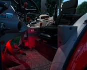 Footwell & Interior - Color Changing Weatherproof RGB LED Glow Strip Accent Lighting Kit: Showing Strip Kit Installed In Tractor Cab Footwell.