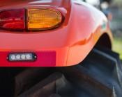 12 Watt Vehicle Mini Strobe Two-Color Light Head: Installed on Tractor