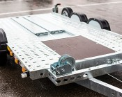"Light Bar LED Truck and Trailer Light - 14"" 3-Lamp LED Identification Light Bar  w/ 9 High Flux LEDs - Pigtail Connector: Installed on Trailer"