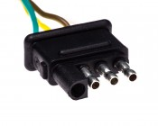 TC-4CMPT - 4-Way Male Trailer Light Connector
