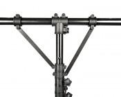 Work Light Tripod Stand w/ Tubular T-Bar: Showing Detail Of Top Half Of Tripod.