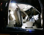 921 LED Bulb used as LED Dome Lights and LED Map Lights in Truck Interior.