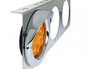 ST series 3 Lamp SS Bracket: Shown with ST LED Light, Grommet, And Hood (sold separately)