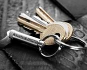 TU285 NEBO NanoLite LED Keychain Flashlight: Shown With Keys