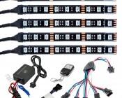 LED Golf Cart Lighting Kit - Multi-Strip Remote Activated RGB Color Changing Kit: 5 Strip Kit