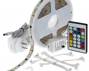 Universal Waterproof Color Chasing RGB LED Light Strip Kits - LED Tape Light with 9 SMDs/ft., 3 Chip RGB SMD LED 5050