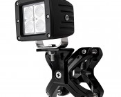 """Universal X-Clamp LED Light Mounts for 2-1/4"""" to 3"""" Roll Cage Tubes - 3"""" Square LED Auxiliary Lights"""