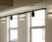 """2"""" Wide Up/Down Aluminum Profile Housing for LED Strip Lights: Installed Accenting Walls by Windows"""