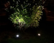 2 Linkable LED In-Ground Well Lights -  Natural White On Left & Warm White On RIght