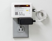 Smartphone or Tablet Wi-Fi LED Controller Hub: Connected to Wall Outlet Using USB Wall Charger (USB-500MA-5V)