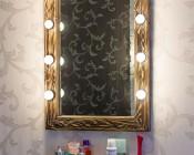 G11 LED Bulb - 8 SMD LED Globe Bulb: Warm White Installed in Bathroom Vanity Mirror