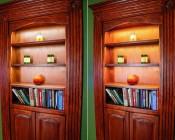 Variable Color Temperature Double Row LED Flexible Light Strip Illuminating Bookshelf
