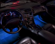 Blue LED Tube Under Dash