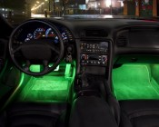Green LED Tube Under Dash