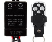 Vehicle-Ready LED Controller - Wireless RF Remote Key Fob: Front View