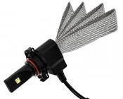 Motorcycle LED Headlight Conversion Kit - PSX24W LED Headlight Bulb Conversion Kit with Flexible Tinned Copper Braid