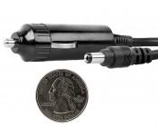 Universal 12V Vehicle Cigarette Lighter Power Adapter: Quarter Size Comparison