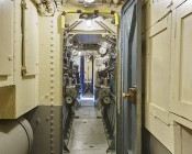 LED Vapor Proof Jelly Jar Light Fixture - Caged Ceiling Mount Light - 1,800 Lumens: Illuminating Submarine Man-door