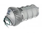 LED Vapor Proof Jelly Jar Light Fixture - Caged Pendant Mount Light - 1,800 Lumens: Back View