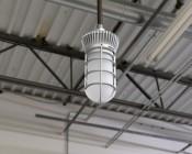 LED Vapor Proof Jelly Jar Light Fixture - Caged Pendant Mount Light - 1,800 Lumens: Installed On Conduit