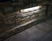 """LED Hardscape Lighting - Deck/Step and Retaining Wall Lights w/ Mounting Plates: Showing 18"""" Version In Natural White."""
