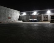 LED Retrofit Kit for 500W MH Fixtures - 11,200 Lumens: Shown Installed In Warehouse Wall Pack Fixtures.