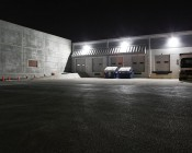 LED Retrofit Kit for 750W MH Fixtures - 18,000 Lumens: Shown Installed In Warehouse Wall Pack Fixtures.