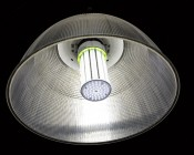 LED Corn Light - 750W Equivalent HID Conversion - E39/E40 Mogul Base: Showing Detail Of Bulb In High Bay Fixture.