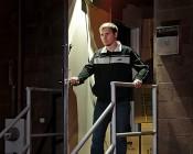 UltraBright Wireless Motion Sensor Spotlight by Mr Beams: Installed Above Door