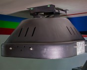 Modular LED High Bay Light - 150W: Hung By Surface Mounting Kit Attached To Drywall Ceiling