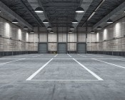 LED Retrofit Kit for 320W MH Fixtures: Shown Retrofitted In Low Bay Warehouse Fixtures.
