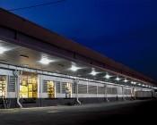 60W Vapor Tight Light Fixture - Industrial LED Light - 4' Long: Shown Lighting Warehouse Loading Dock.