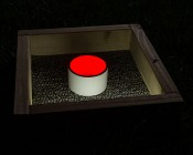 AM series Miniature Rectangle Accent Light - Black: Installed Inside Cup