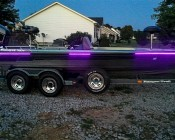 Weatherproof High Power LED Flexible Light Strip - WFLS-x: Customer Installed Ultraviolet Onto Boat Rubrails, Thanks Gary