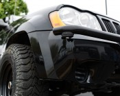 Waterproof Off Road LED Rock Light Replacement: Shown Installed Using Curved Rubber Mounting Gasket.
